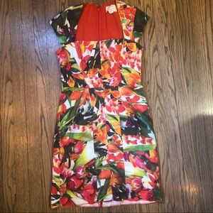 Nicole Miller Tropical Print Dress